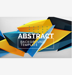 3d geometric triangular shapes abstract background vector image