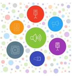 7 loudspeaker icons vector