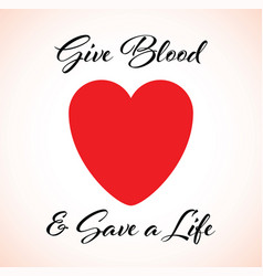 a give blood heart vector image