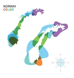 Abstract color map of Norway vector