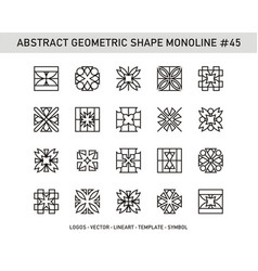 Abstract geometric shape monoline 45 vector