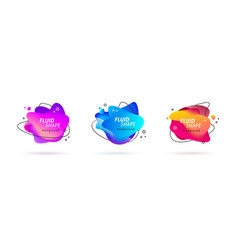 abstract modern fluid banners with gradient color vector image