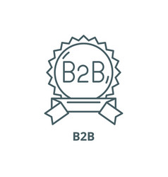 B2b line icon outline sign concept vector