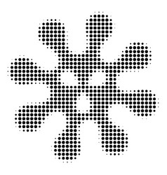 black dotted virus icon vector image