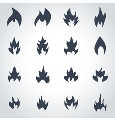 black file icon set vector image