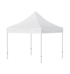 blank square tent mockup isolated vector image