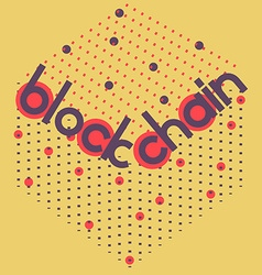 blockchain volume square vector image