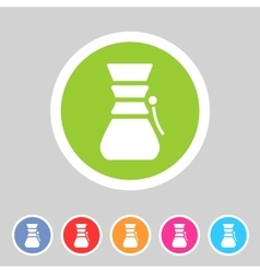 Chemex coffeemaker coffee icon flat web sign vector