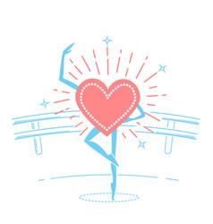 Choreography concept dancing heart vector