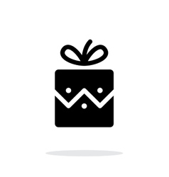 Christmas present icon on white background vector image