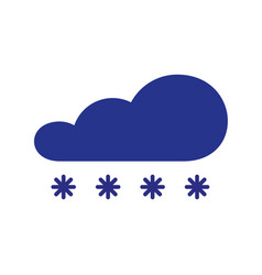 Cloud with snow symbol winter element icon in vector
