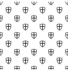 Combat shield with cross pattern simple style vector