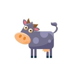 Cow Simplified Cute vector