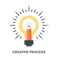 Creative process icon concept vector