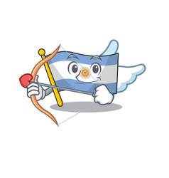 Cupid flag argentina cartoon shaped mascot vector