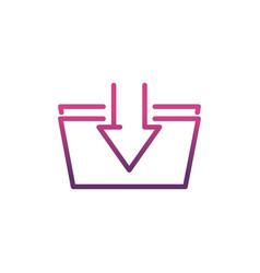 download file network social media icon line vector image