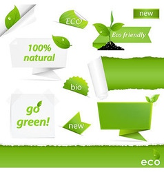 Eco Green Set vector