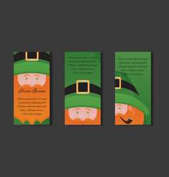 et templates with of leprechaun with a pipe on st vector image