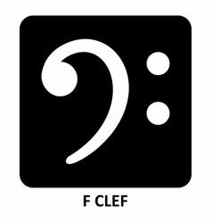 f clef vector image