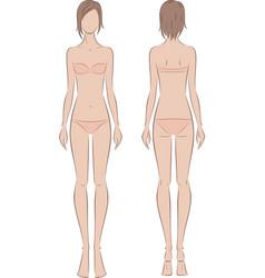 Female fashion figure vector