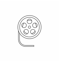 Film reel icon in outline style icon outline style vector image