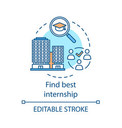 Find best internship concept icon vector