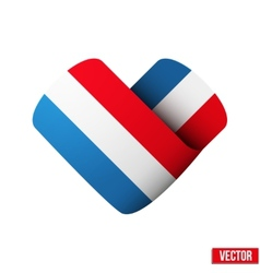 Flag icon in the form of heart I love Netherlands vector