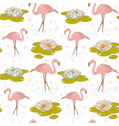 Flamingo seamless big vector image