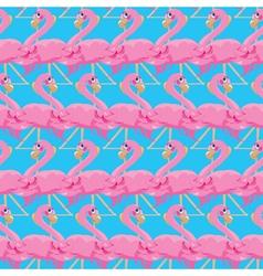 flamingos seamless 380 vector image