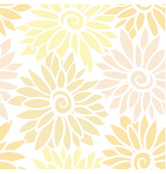 floral background with stylized blooming vector image