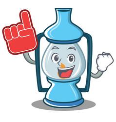 Foam finger lantern character cartoon style vector