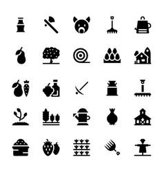 Gardening glyph icons vector
