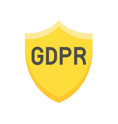 gdpr general data protection regulation icon flat vector image