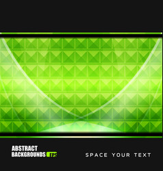 geometric green backgrounds design vector image