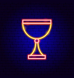 goblet neon sign vector image
