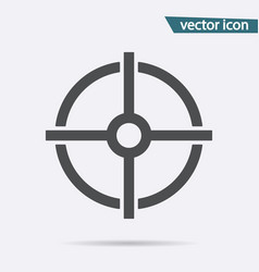 gray target icon isolated on background modern fl vector image