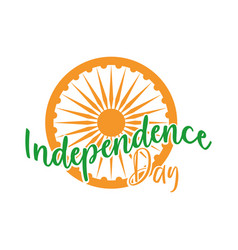 Happy independence day india phase and ashoka vector