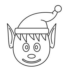 head elfin icon outline style vector image