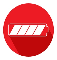 Icon battery of a flat design vector image