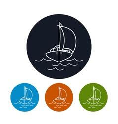 Icon yacht vector