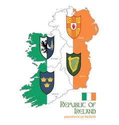 irish celtic design in vintage retro style vector image