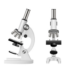 isolated microscope realistic vector image