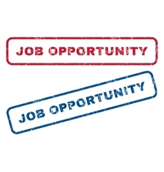 Job Opportunity Rubber Stamps vector image