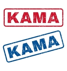 Kama rubber stamps vector