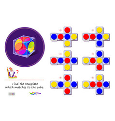 Logic puzzle game for children and adults need to vector