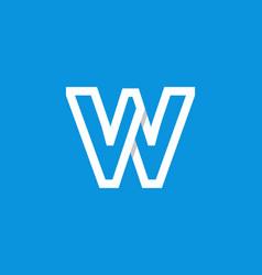 logo letter w white vector image