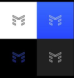logo m linear logo of the letter m vector image