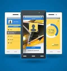 Modern smartphone Flat design template for mobile vector