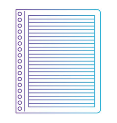 Notebook paper with horizontal lines in degraded vector