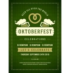 Oktoberfest beer festival typographic poster vector
